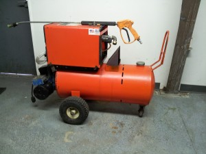 Alkota electric powered diesel burner pressure washer. About 1000psi at 3gpm. New coil! $1200